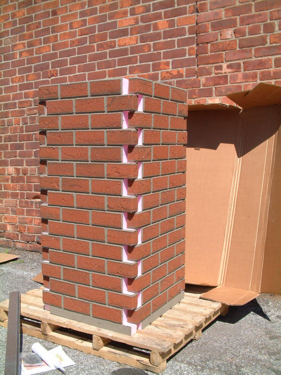 Flexi Brick Source Simulated Brick Chimney Chase Light